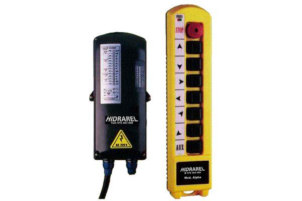 Reparación mando control remoto puente grúa gama Alpha serie 1500