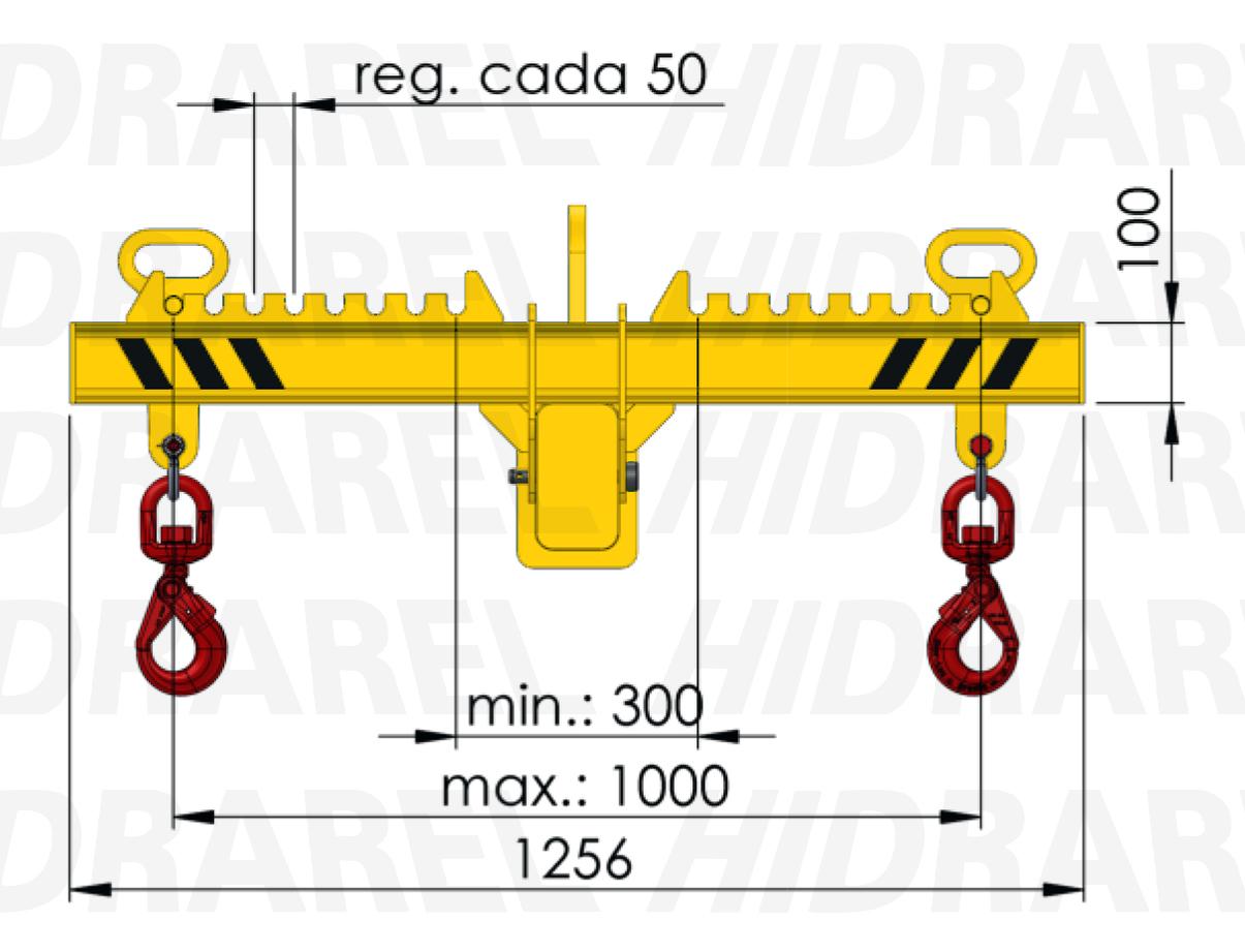 Lateral balancín regulable