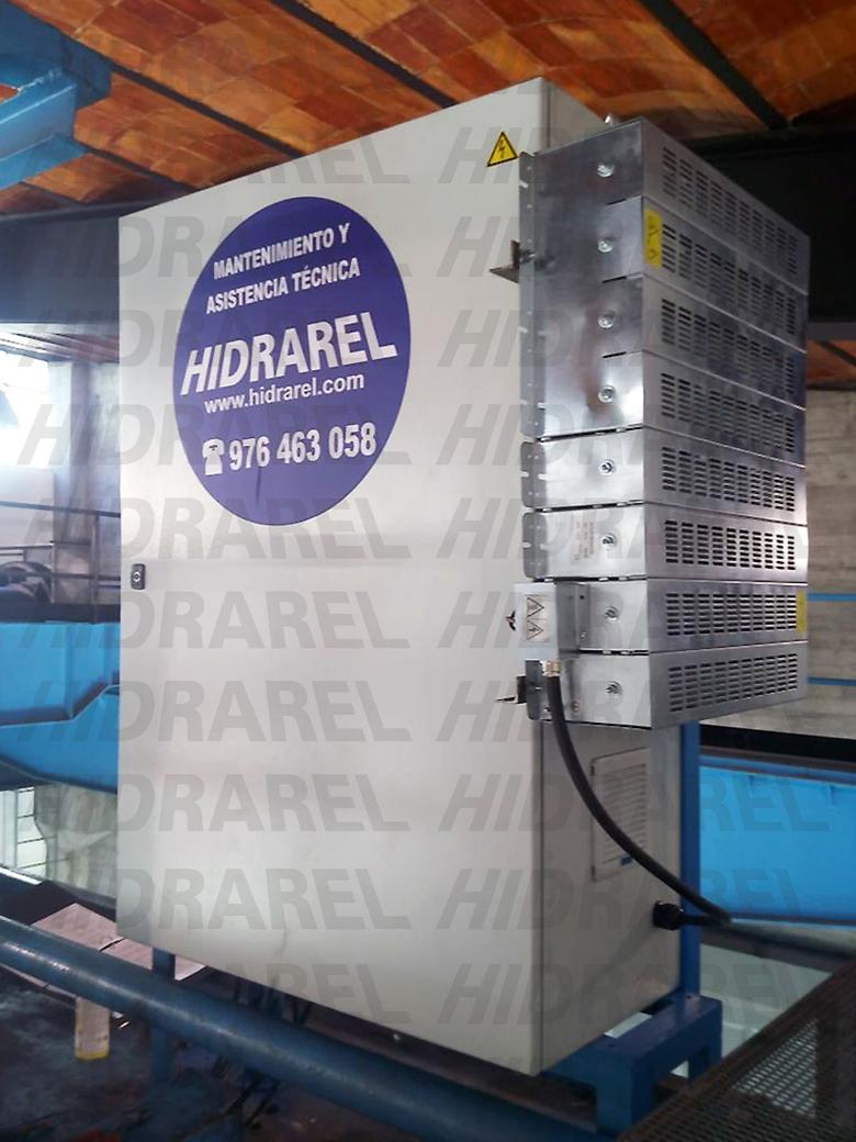 armario eléctrico con resistencias de frenado